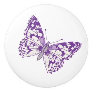 Purple Butterfly Knobs and Pulls | Zazzle