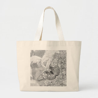 Painted Lady Butterfly Sketch Effect Bags