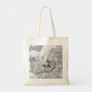 Painted Lady Butterfly Sketch Effect Tote Bag