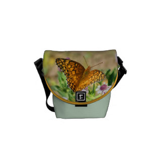 Painted Lady Butterfly with Flowers Mini Bag Messenger Bags