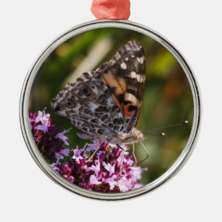 Painted Lady Metal Ornament