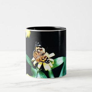 Painted Lady Two-Tone Coffee Mug