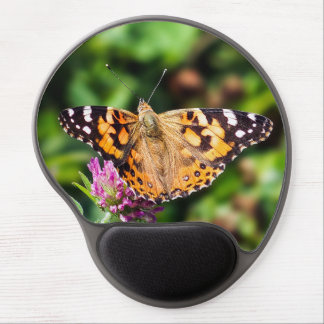 Painted Lady on Red Clover Gel Mousepad