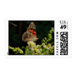 painted lady on the hedge stamp