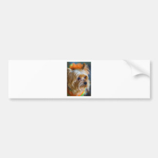 Painted Lady Yorkshire Terrier Bumper Sticker
