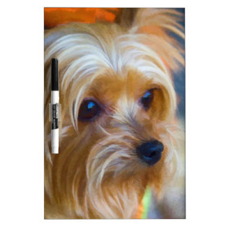 Painted Lady Yorkshire Terrier Dry-Erase Board