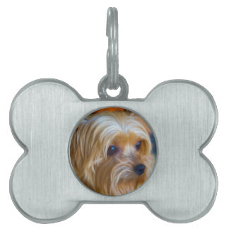 Painted Lady Yorkshire Terrier Pet ID Tag