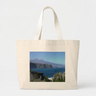 painted landscape, tenerife canvas bags