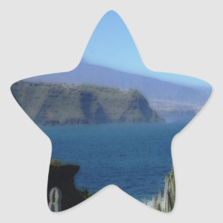 painted landscape tenerife stickers