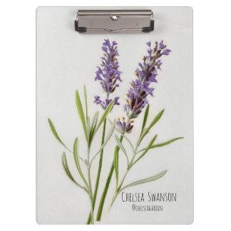 Painted Lavender Sprig Clipboard