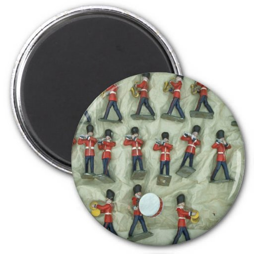 Painted lead soldiers magnets