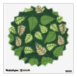 Painted Leaf Pattern Wall Sticker