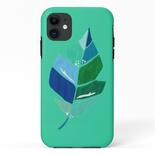 Painted Leaves Green Botanical Tropical Case-Mate