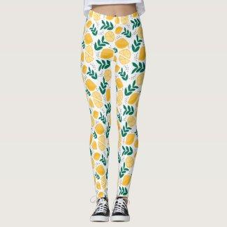 Painted Lemons Leggings
