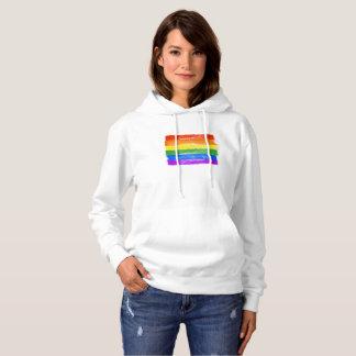 PAINTED LGBTQ PRIDE FLAG - copy -  Hoodie