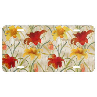 Painted Lilies License Plate