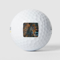 Painted Lion Golf Balls