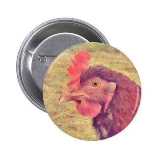 Painted Little Red Hen Pins