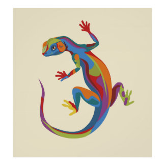 Painted Lizard Poster