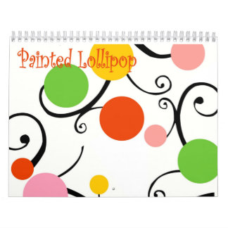 Painted Lollipop Calendar - Customized
