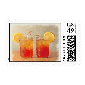 Painted Look Sweet Tea for Two Postage