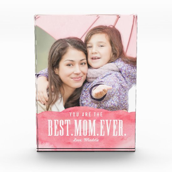 Painted Love Best Mom Ever Photo Block