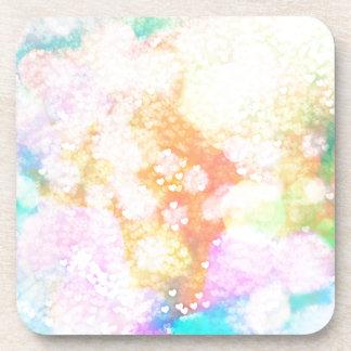 Painted Love Bokeh Drink Coaster