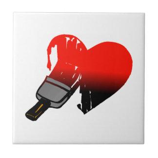 Painted Love Ceramic Tile