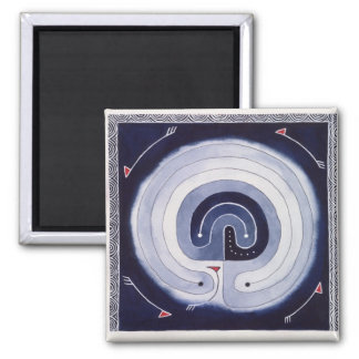 Painted Maze 2 Inch Square Magnet