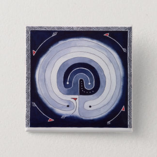 Painted Maze Pinback Button