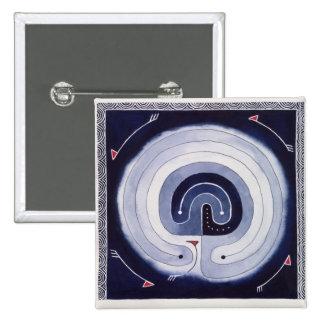 Painted Maze Pinback Button