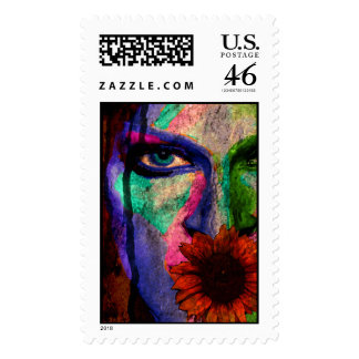 Painted memory stamp