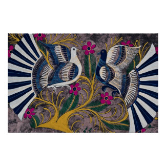 Painted Mexican design, Cuernavaca, Mexico Poster