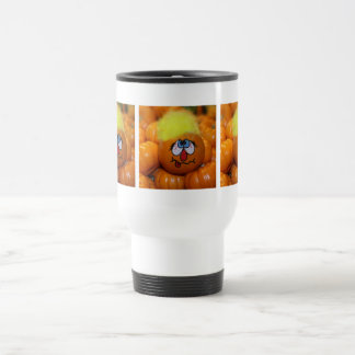 Painted Mini Pumpkin With Background Coffee Mugs