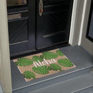 Painted Monstera -  Aloha Doormat