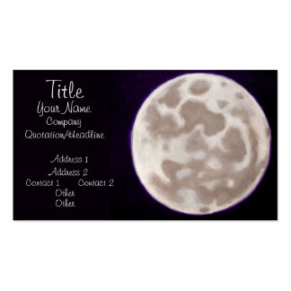 Painted Moon Business Card Template