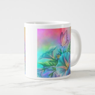 Painted Morning Glories Giant Coffee Mug