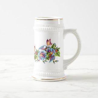Painted Morning Glories Coffee Mug