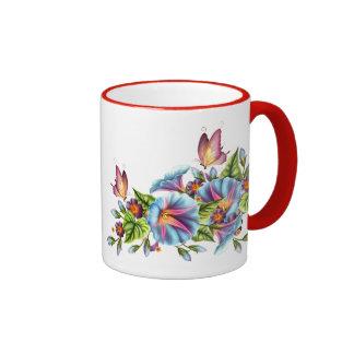 Painted Morning Glories Mugs