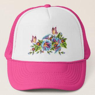 Painted Morning Glories Trucker Hat