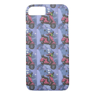 Painted motorbike iphone case