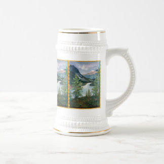 Painted Mountain scenery Beer Stein