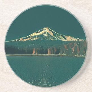 Painted Mt. Hood Coaster