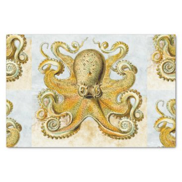 Beach Themed Painted Nautical Octopus Kraken Squid Father's Day Tissue Paper