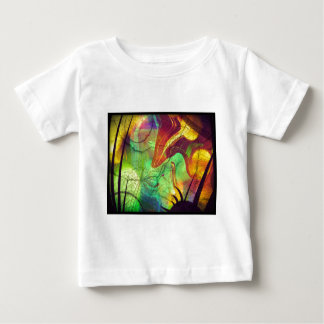 Painted Nebula -Fire Opal Abstract Baby T-Shirt