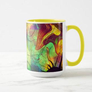 Painted Nebula -Fire Opal Abstract Mug