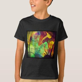 Painted Nebula -Fire Opal Abstract T-Shirt
