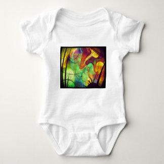 Painted Nebula -Fire Opal Abstract Tshirt