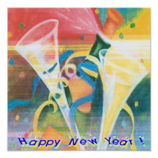 Painted New Year Poster