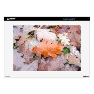 """Painted Oak Leaves 15"""" Laptop Skin"""